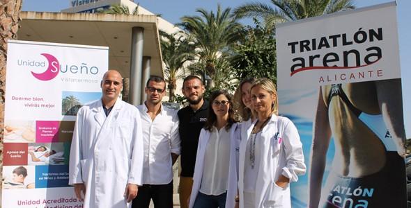 La Unidad de Sueño Vistahermosa patrocina el equipo de Triatlón Arena Alicante