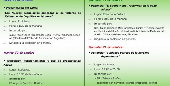 La Unidad de Sueño Vistahermosa participa en las I Jornadas Socio-sanitarias de Munera, Albacete.